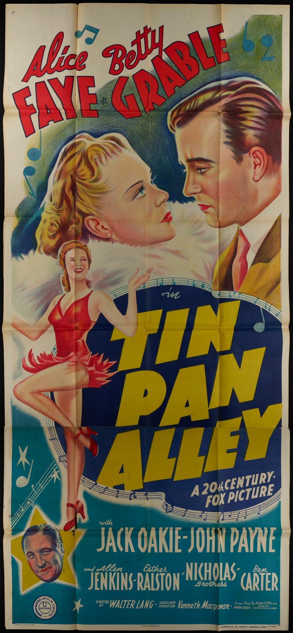 rare poster tin pan aley