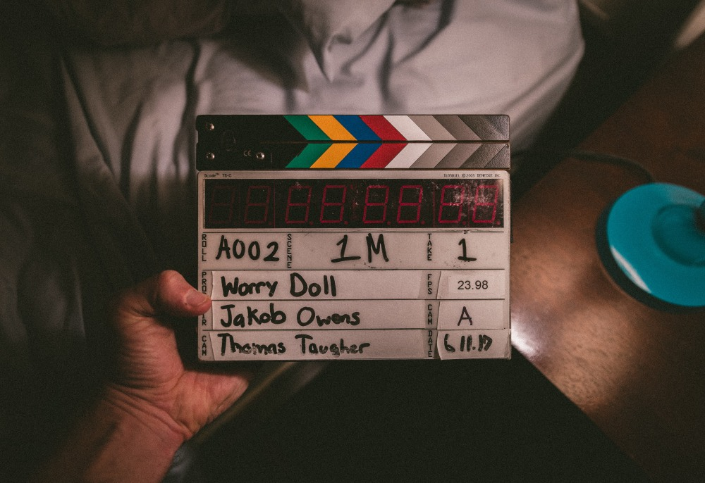 a clapperboard for filmmaking