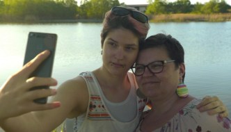 a still from colors of tobi - two people are taking a selfie
