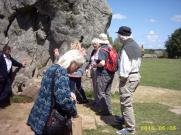 finding energy bands in a standing stone