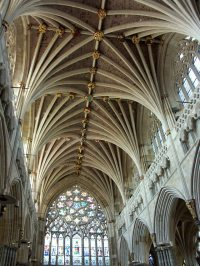 Exeter Cathedral Vaulted Ceiling