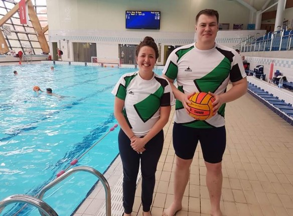 Katie Trist and Rob Harvey selected for the Police South West Water Polo team