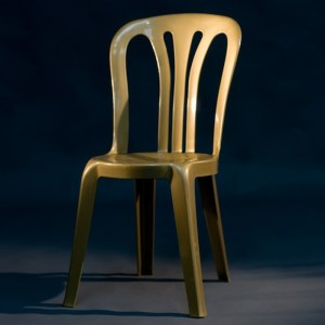 gold bistro chair