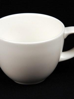 Tea / Coffee Cup 8 oz White China Alchemy