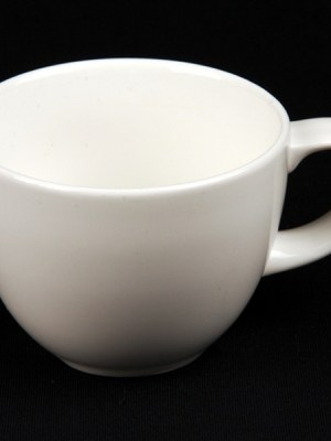 Tea / Coffee Cup 8 oz White China Alchemy