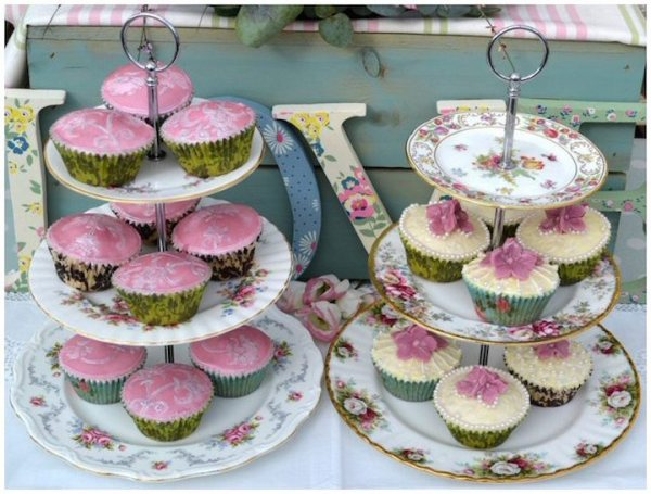 Vintage China Cake Stand 2 or 3 Tier
