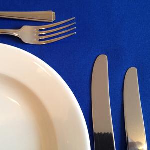 "ROYAL BLUE LINEN TABLECLOTH 118"" ROUND"