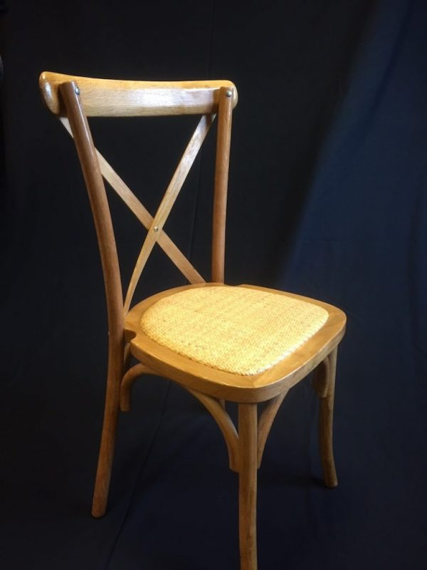 cross back chair hire