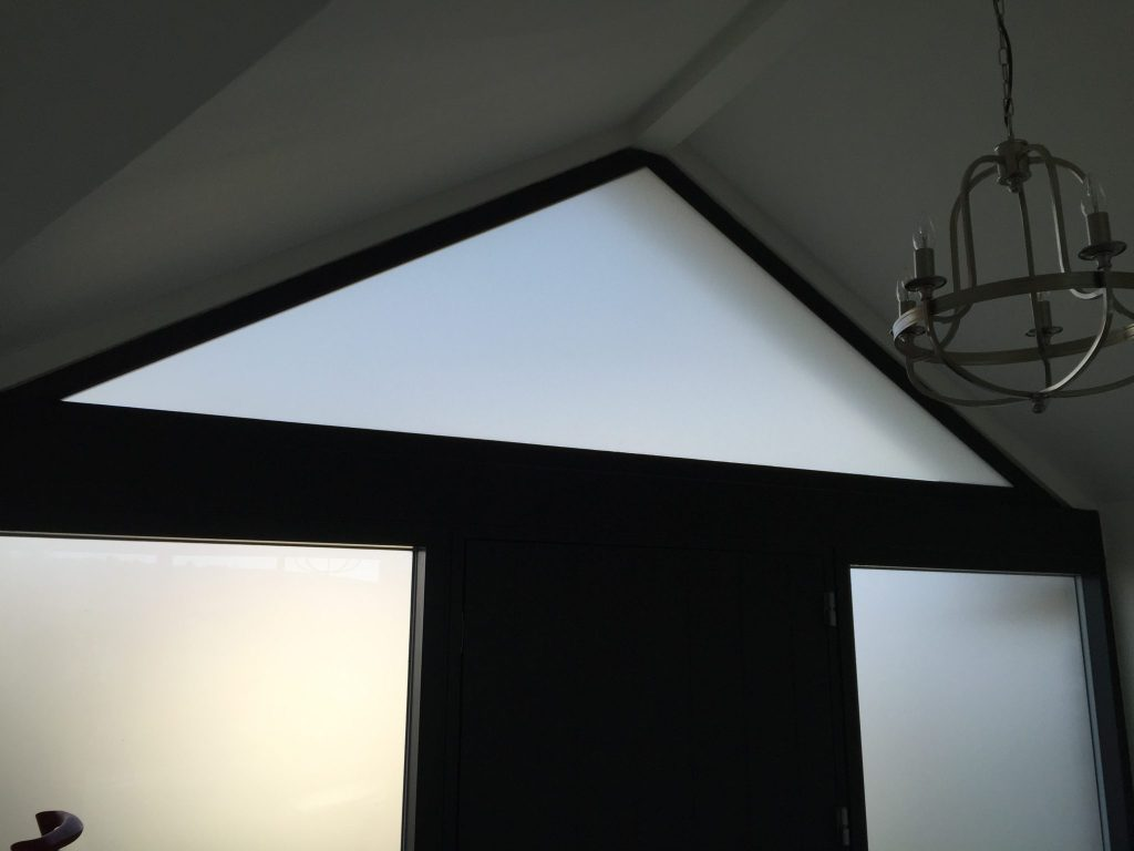 White Matte Frosted Privacy Film