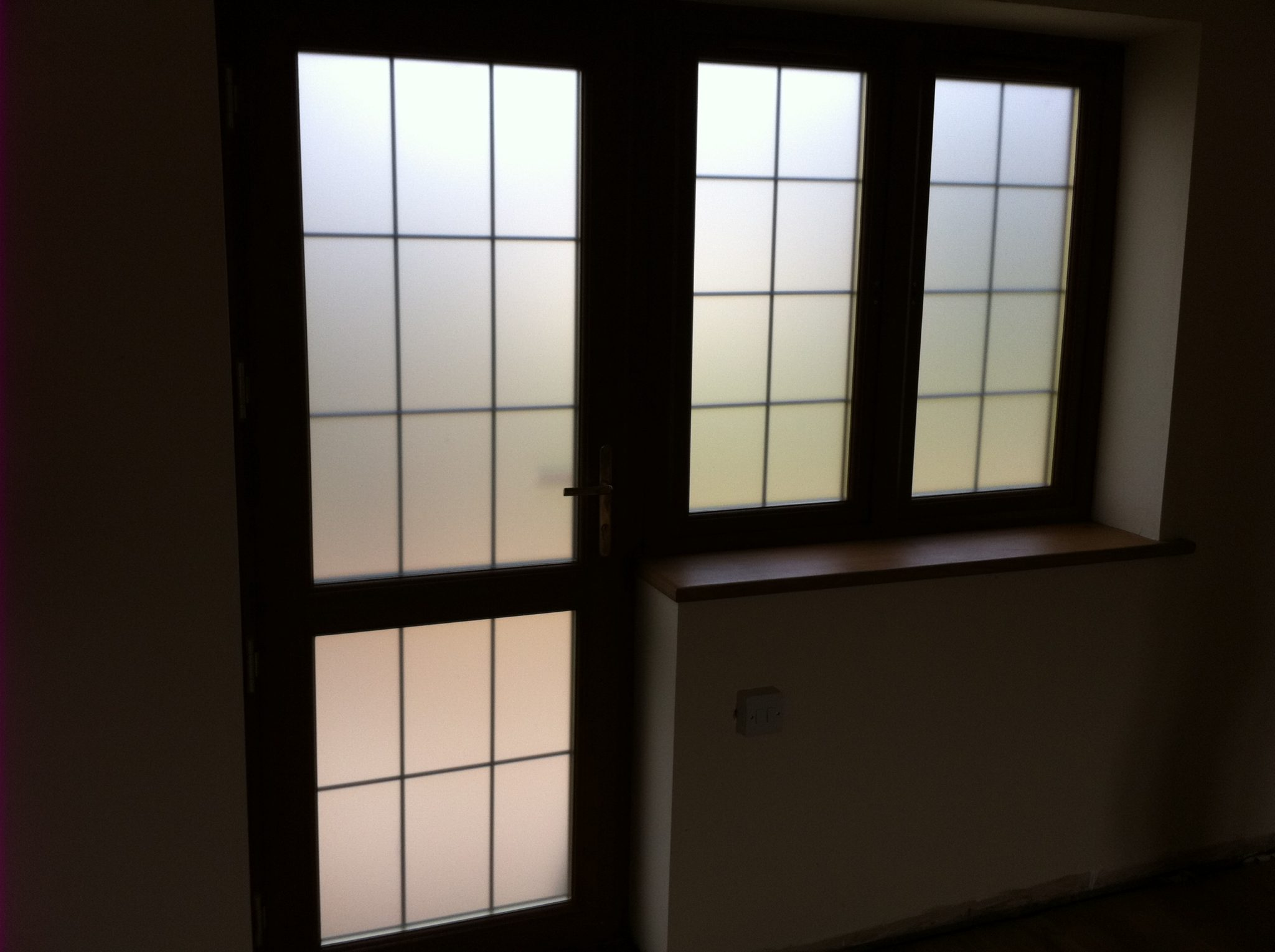 Office with Opal Frost film