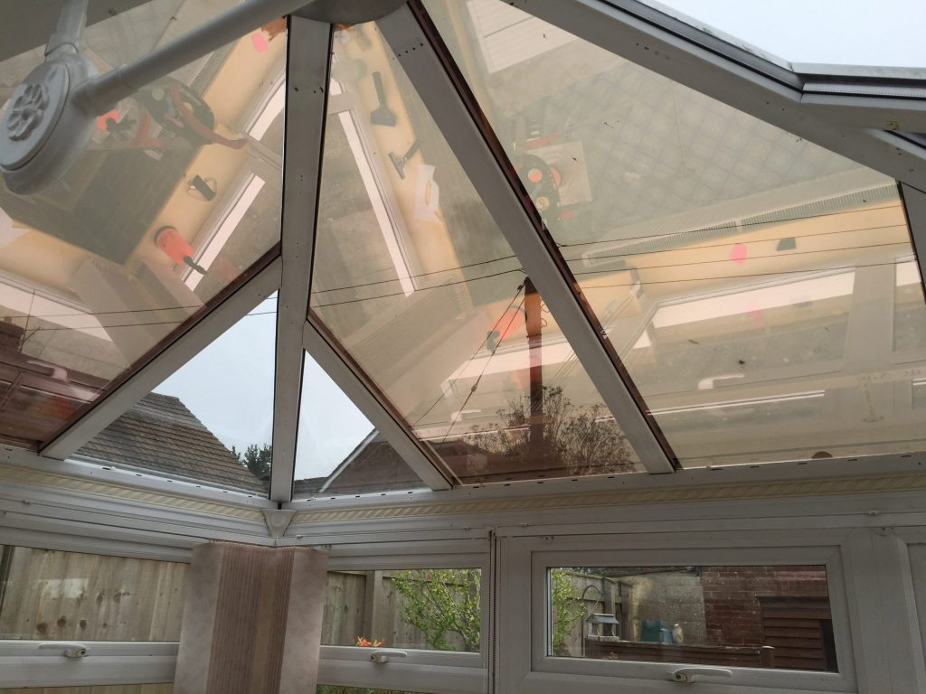 Conservatory Roof in Solar Bronze 20 Window Film