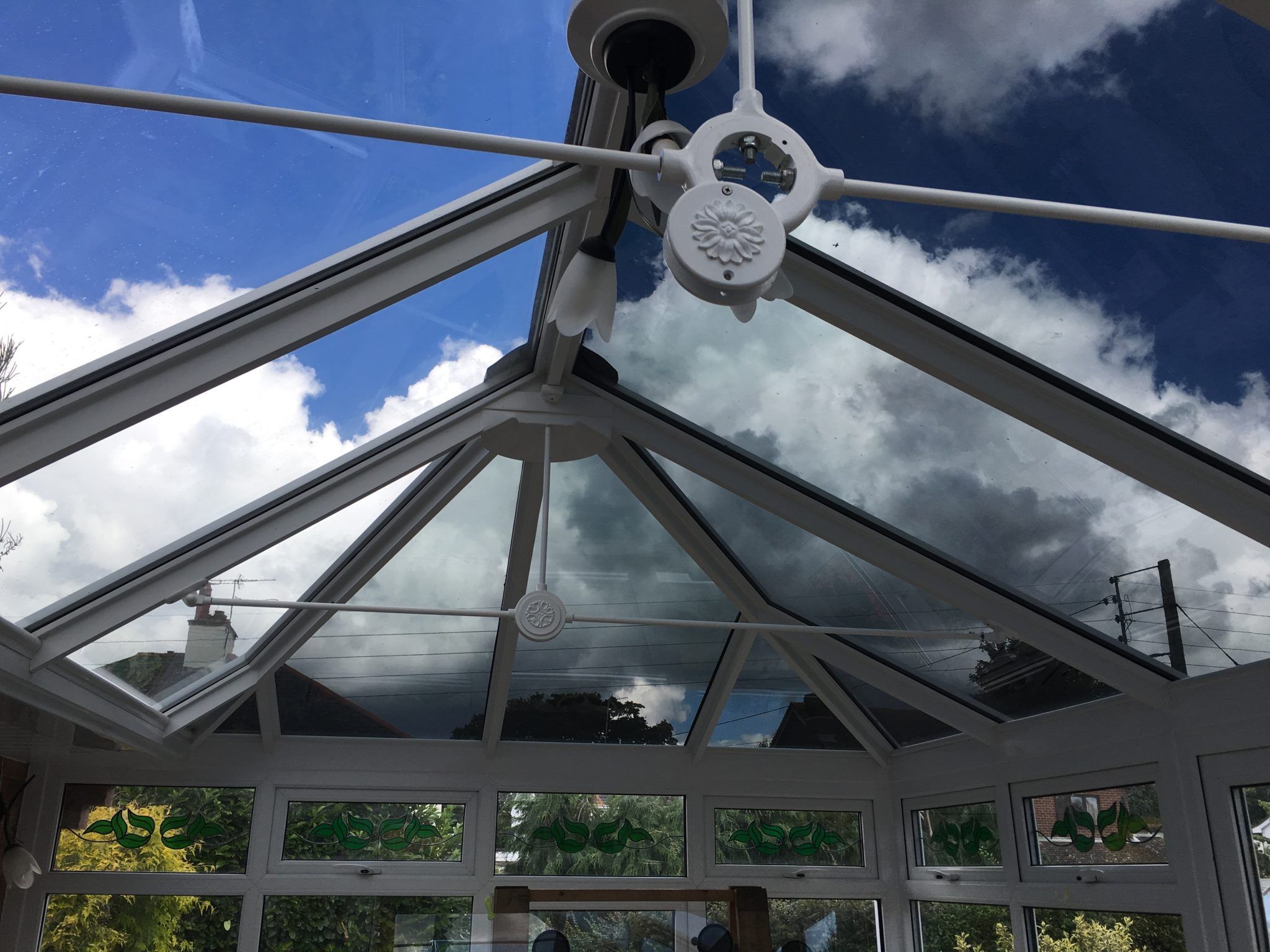Conservatory Glare Reduction Visual Contrast with Window Film