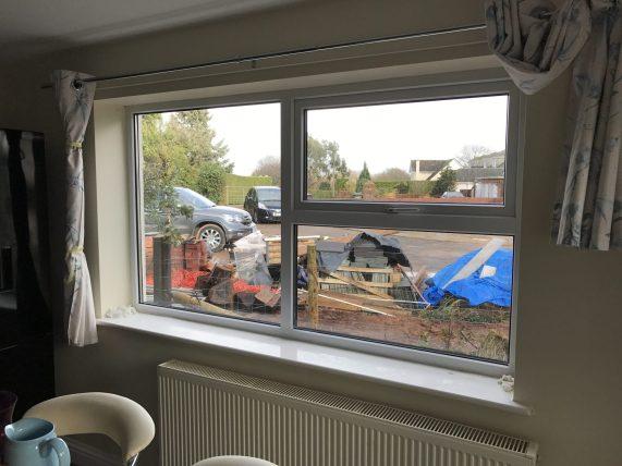 Hanita Silver 20 Reflective Window Film Kitchen View