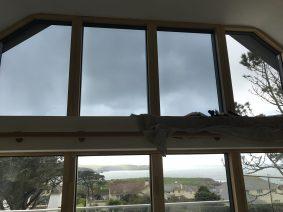 PerLite 20 window film installation underway