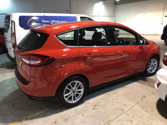 Ford C-Max before window tinting.