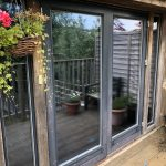 Exterior Johnson MBL 20 window film on patio doors