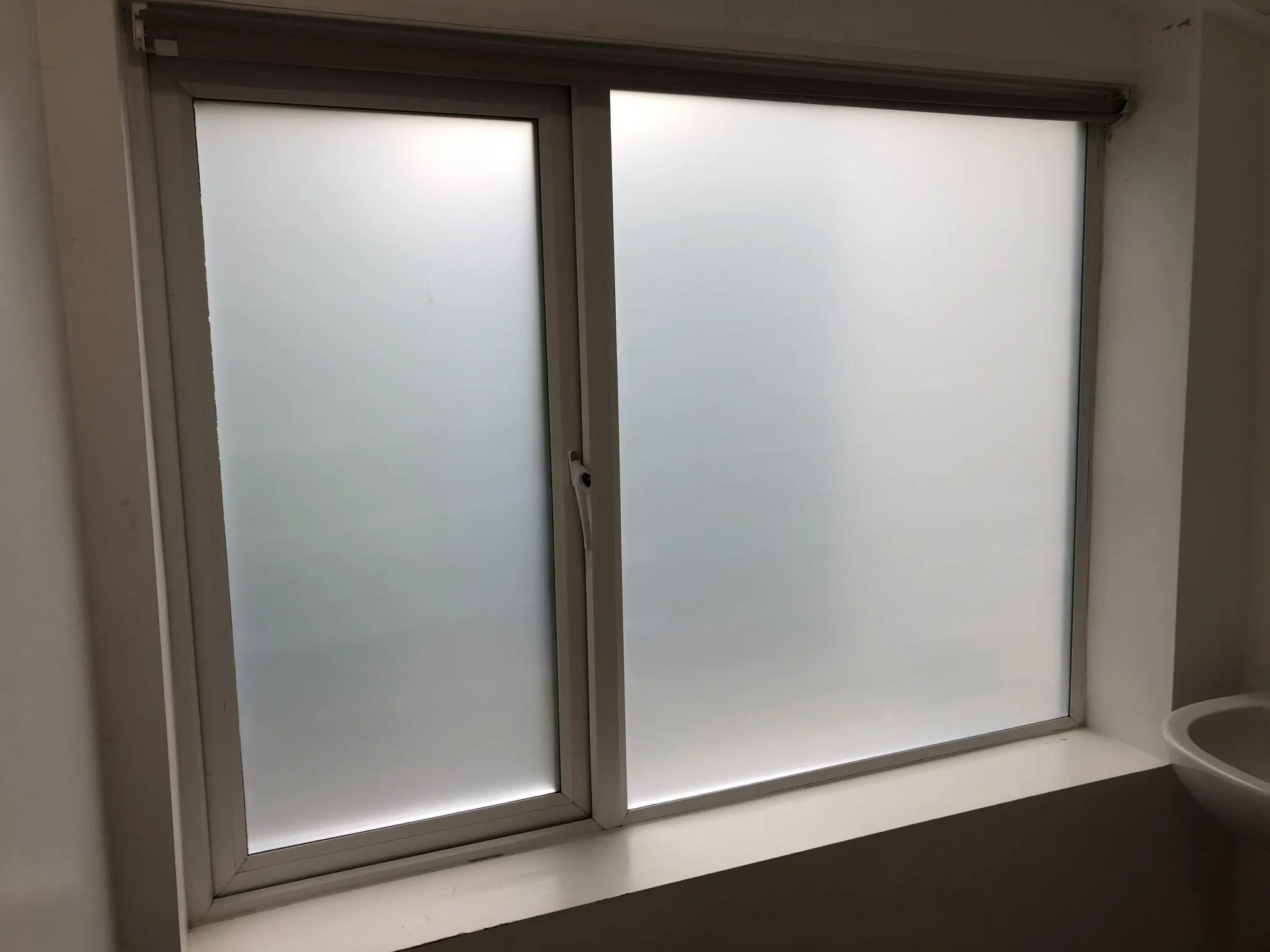 Frosted Window Film for Bathroom Conversion