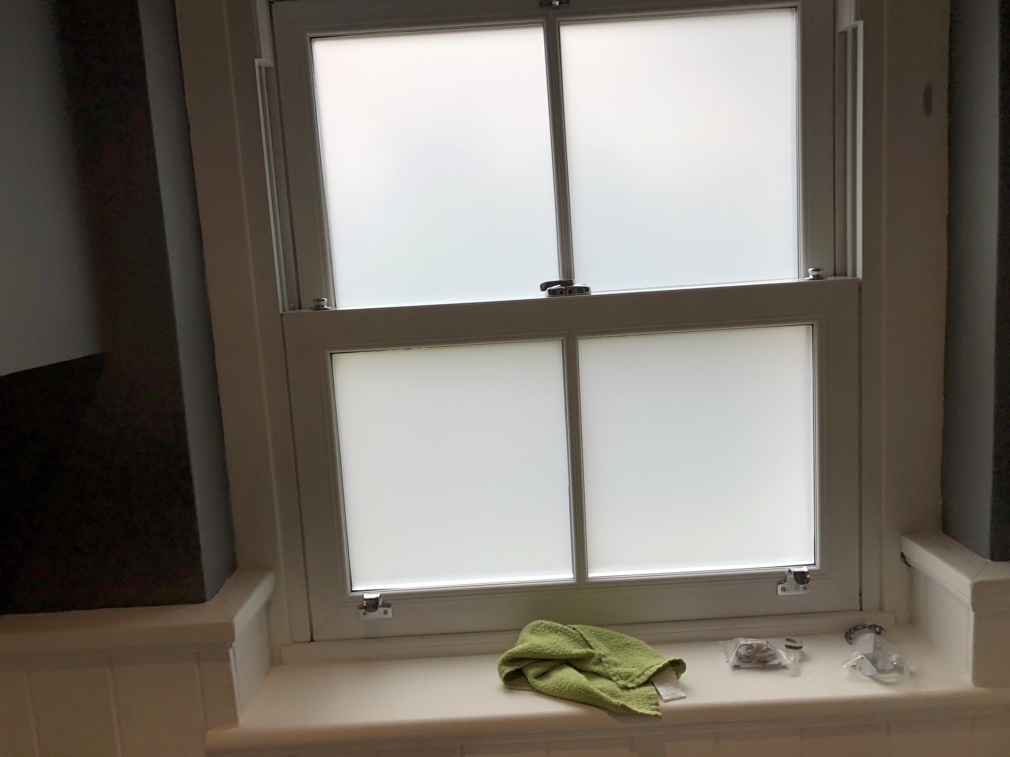 Frosted Obscure Window Film for Bathrooms