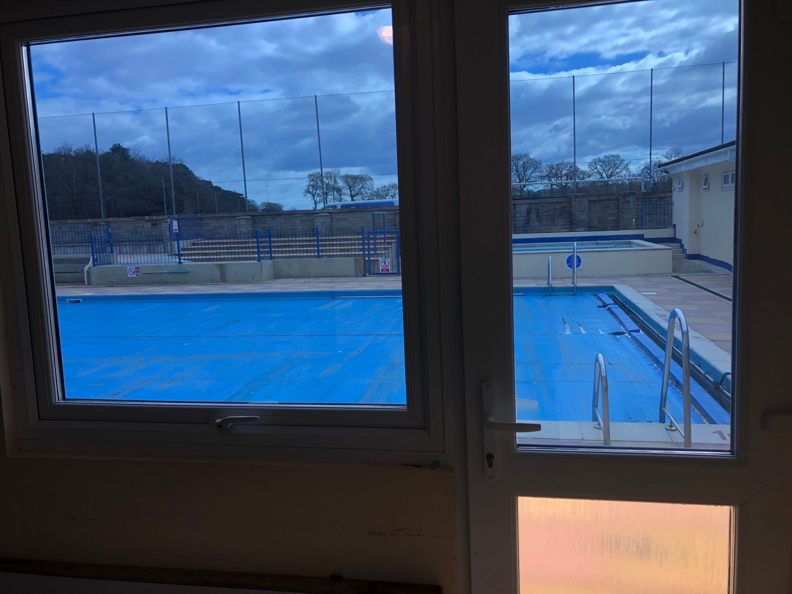 Inside shot of MBL20 at Bovey Pool