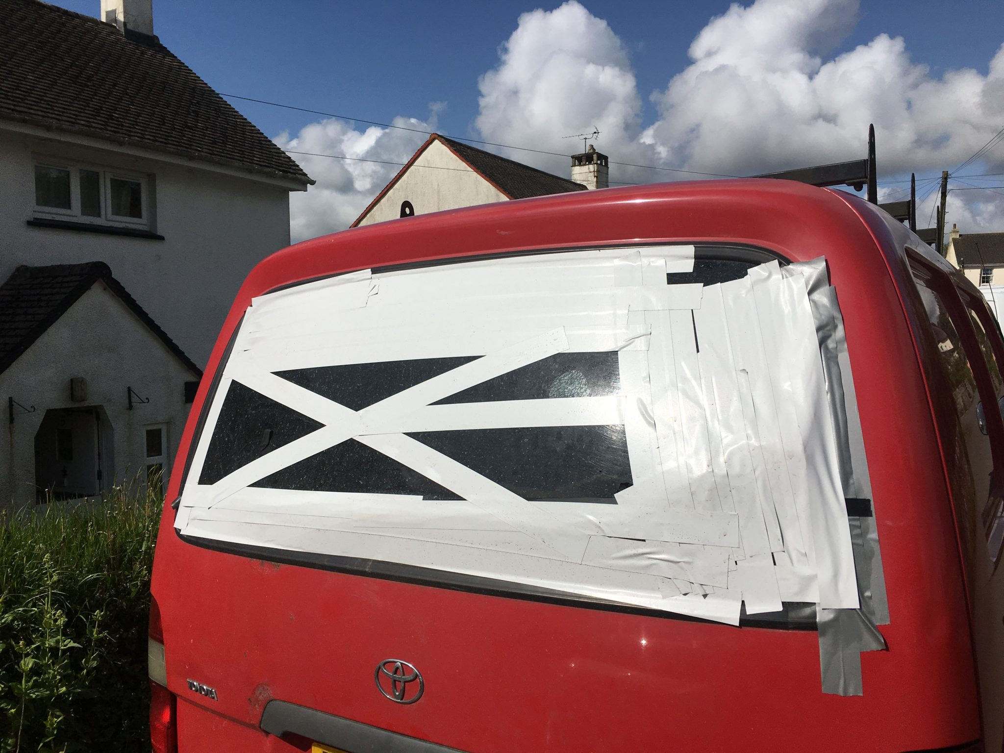 Toyota HiAce Rear Window