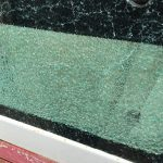 Takeuchi TB016 Doorglass Shattered
