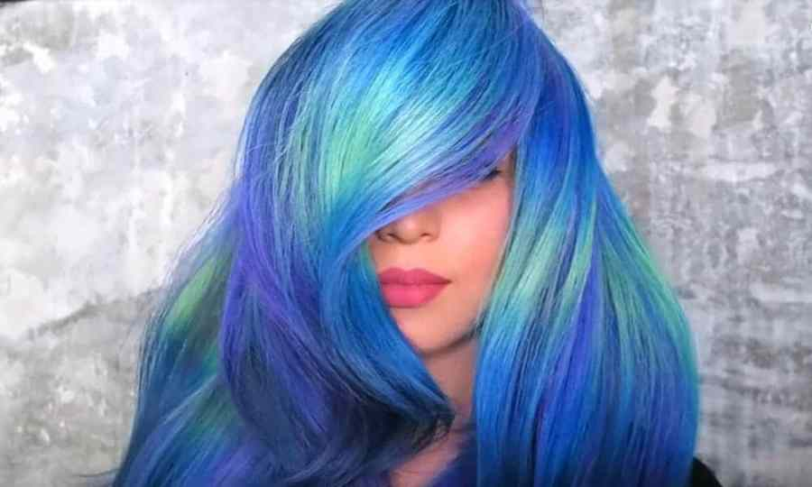 par albastru neon