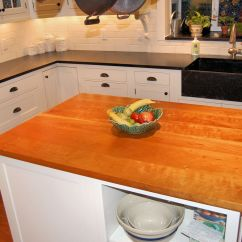 Kitchen Butcher Block Island Ready Made For Cherry Wood Countertop Photo Gallery, By Devos Custom ...