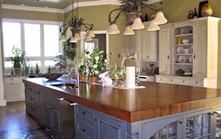 kitchen island tops brass hardware custom wood countertops butcher blocks and edge grain iroko countertop
