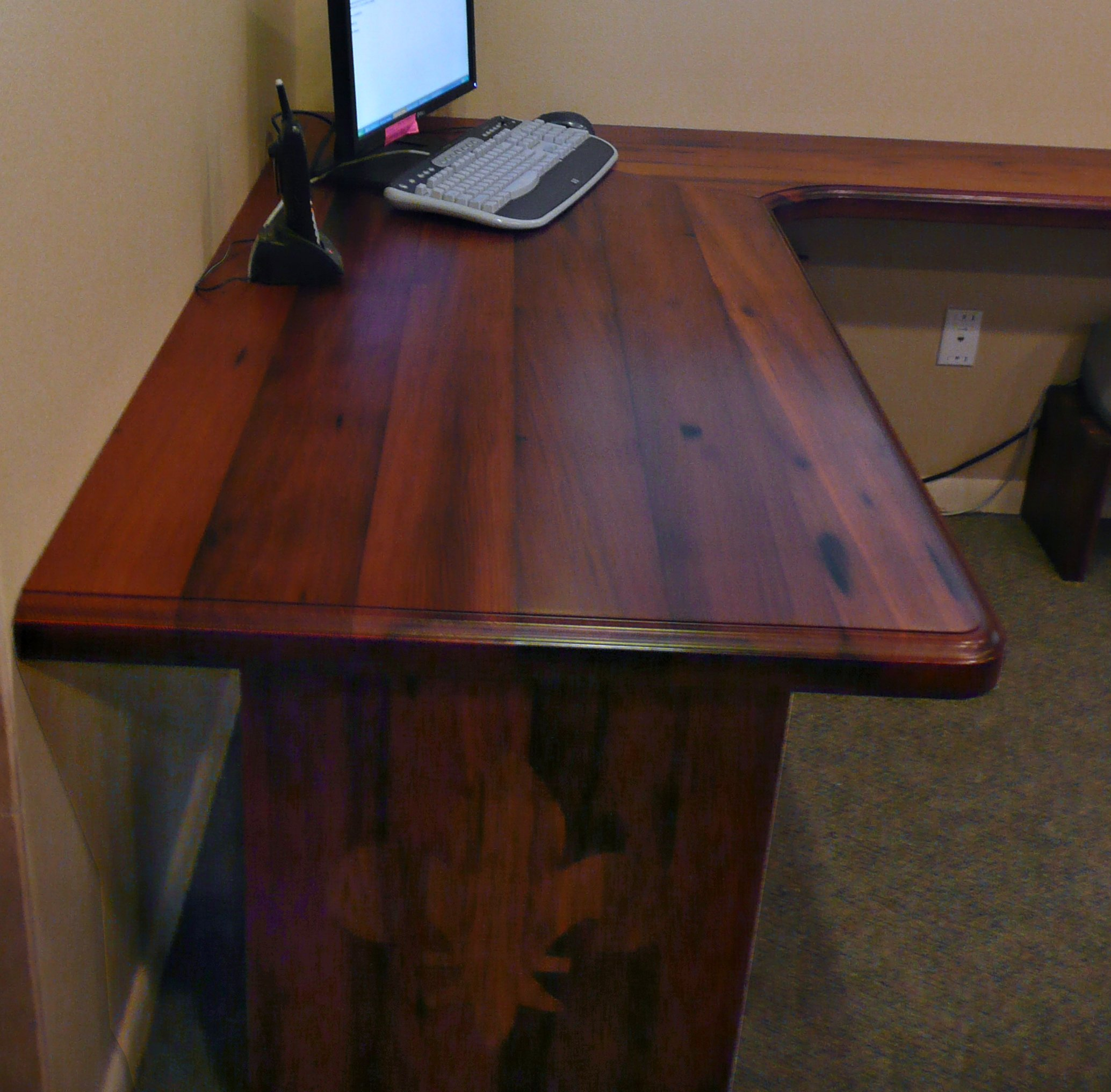 Reclaimed Redwood Countertop Photo Gallery by DeVos Custom Woodworking