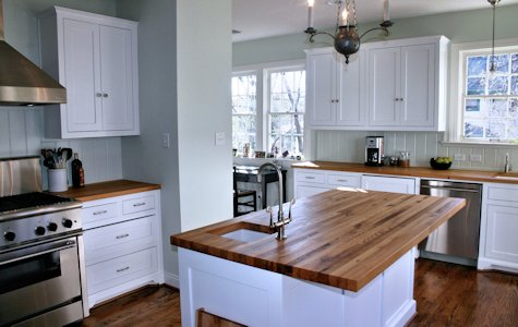 kitchen wood countertops led ceiling light fixtures custom island tops butcher blocks and reclaimed white oak top counter