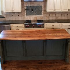 Kitchen Island Countertops Lg Appliance Package Spalted Pecan Wood Countertop Photo Gallery By Devos