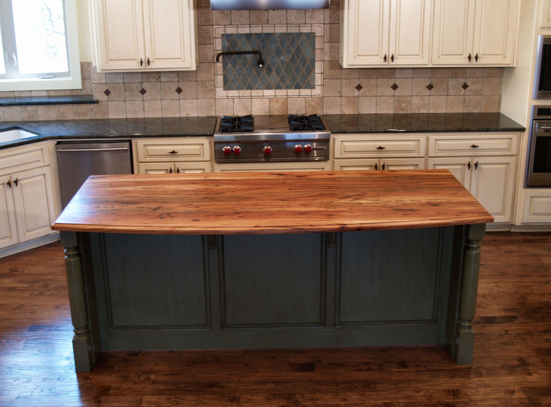 butcher block top kitchen island home depot cabinet sale spalted pecan wood countertop photo gallery by devos