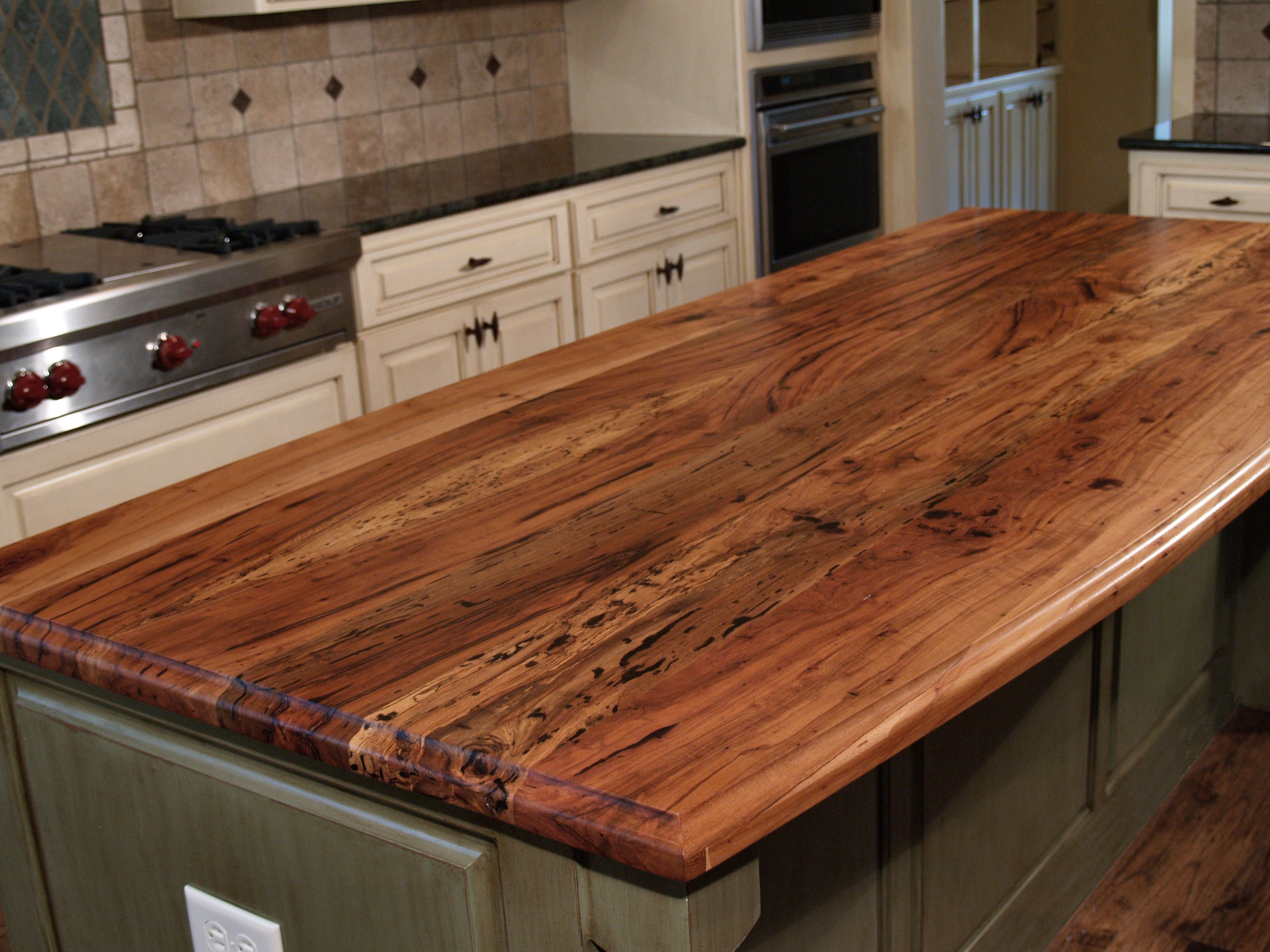 wood kitchen counters hood design spalted pecan countertop photo gallery by devos