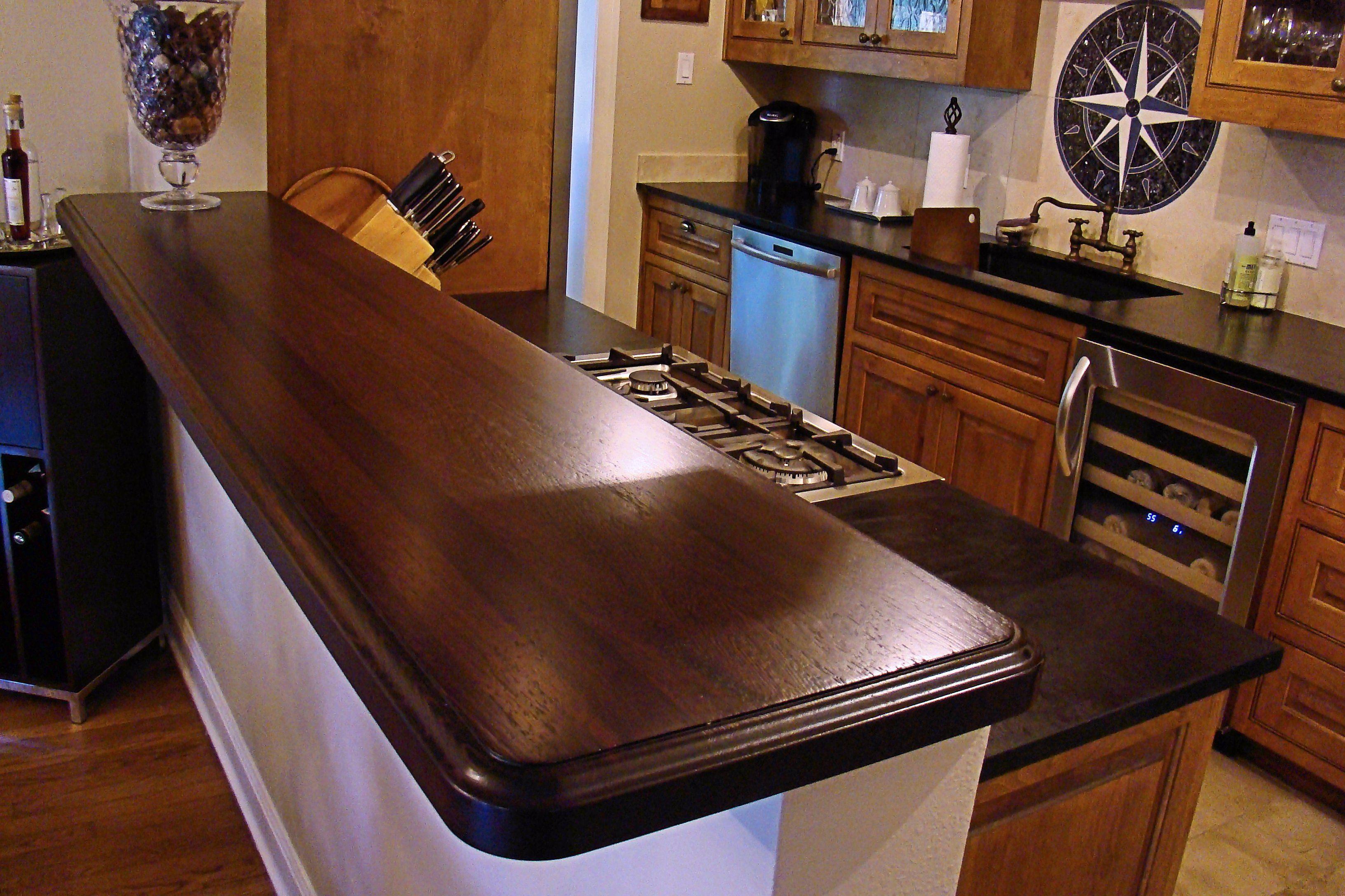 Wenge Wood Countertop Photo Gallery by DeVos Custom