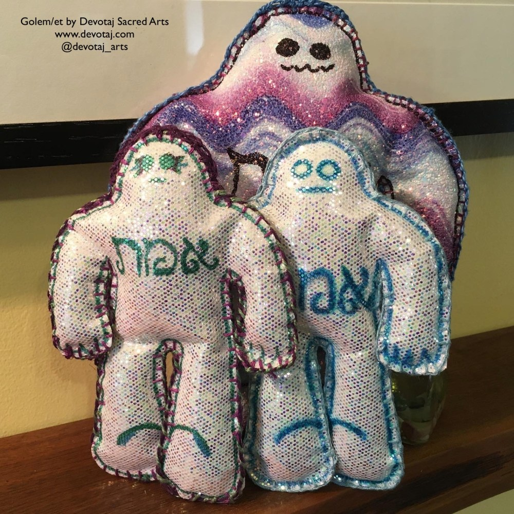 Glitter golem/et from 2nd minyan