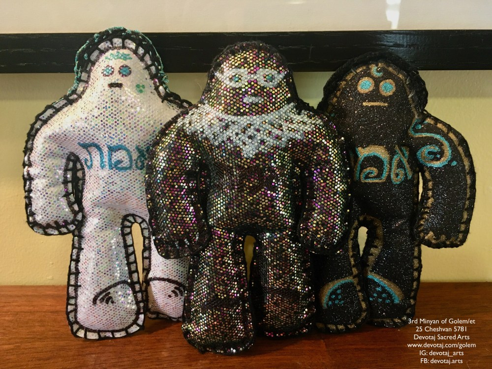 Ruth Bader Golem, Blue Crown, and Nightshade from the 3rd Minyan of Golem/et
