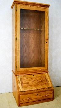 Oak Gun Cabinet - De Vries Woodcrafters