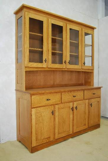 Mission Style China Hutch  De Vries Woodcrafters