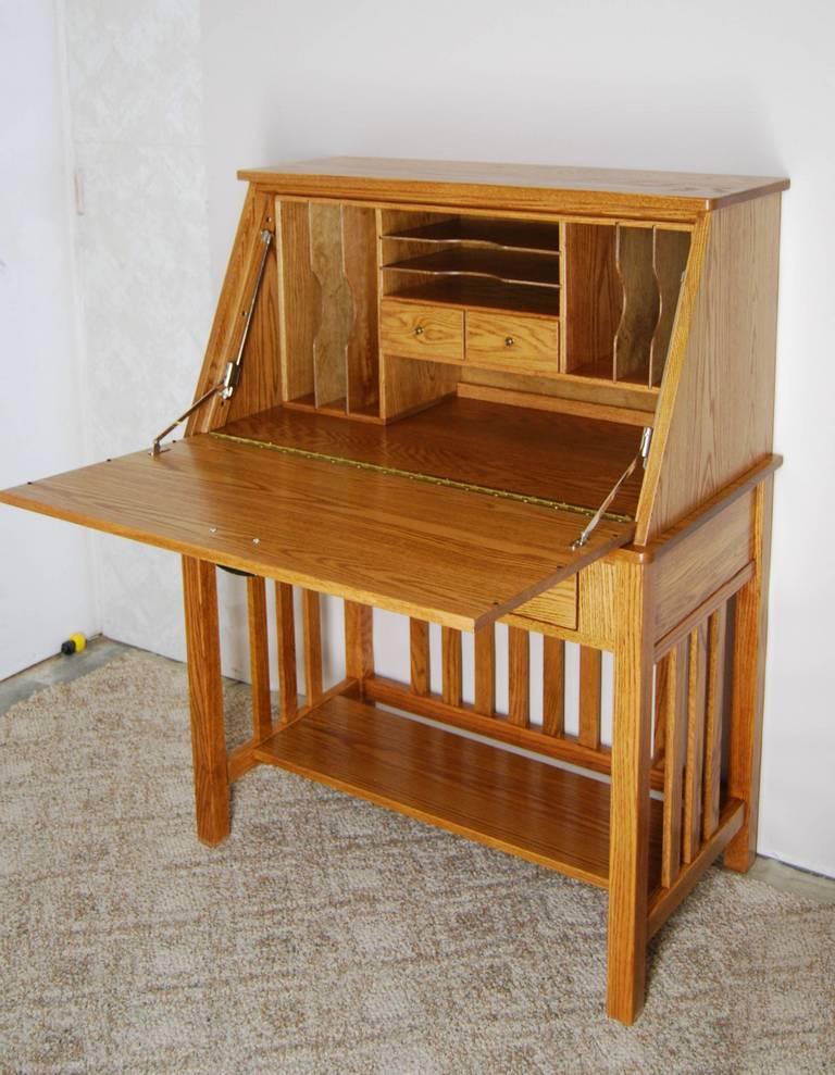Oak Secretary Desk  De Vries Woodcrafters