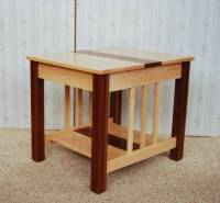 Three-Wood End Table - De Vries Woodcrafters