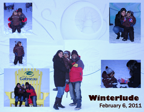 Two weeks after Jesus heals Rathi, she's out having fun with family at Winterlude 2011!