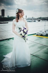 Bride overlooks the Thames