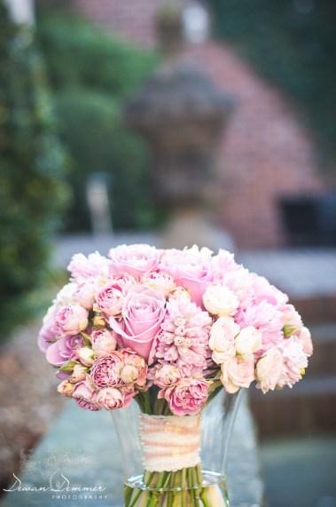 Bridal bouquet in vase Leeds