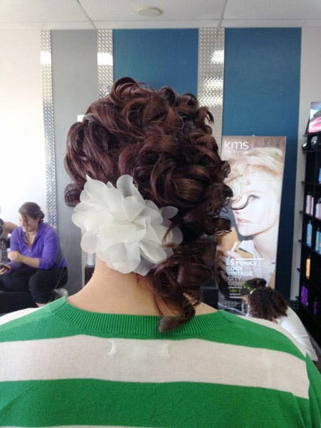 great hair style for wedding in indianapolis