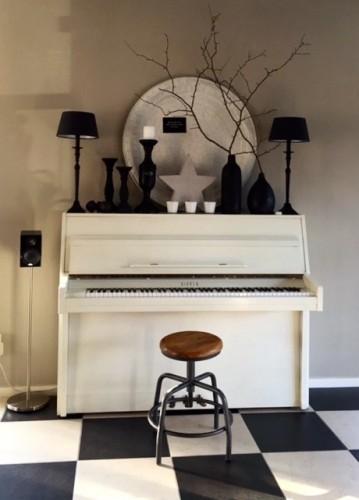 Piano woonkamer