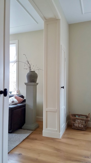En-suite deuren jaren '30 woning kruik met zuil mand