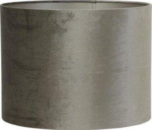 Cilinder lampenkap taupe grijs velvet bol.com