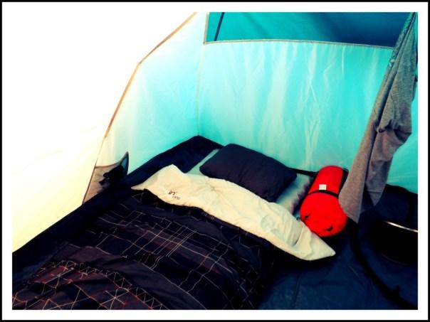 tent slaapkamer