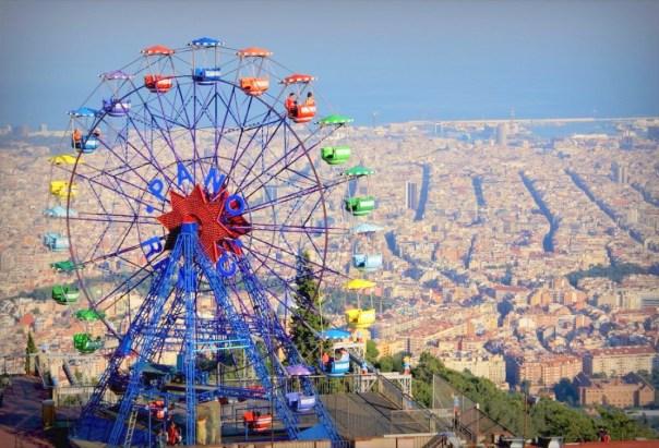 pretparken : TIbidabo in Barcelona