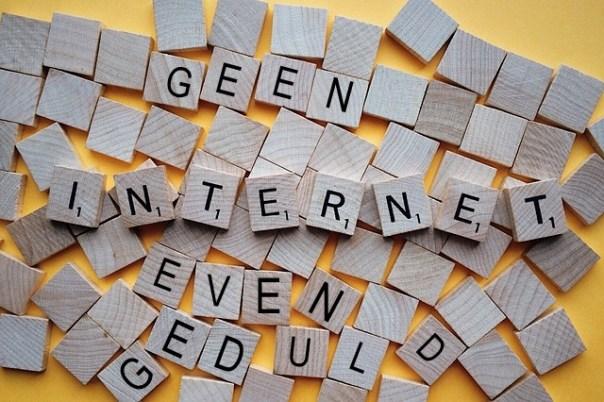 geen internet